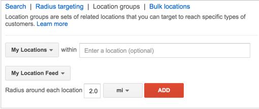 Location bid adjustment
