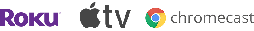 Roku, AppleTV, Chromecast logos