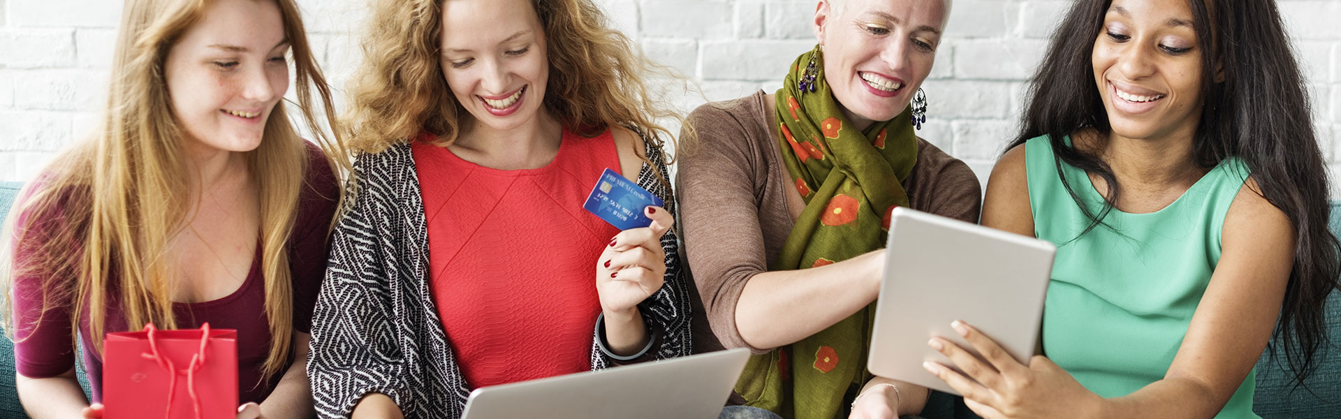 image of women experiencing online personalization