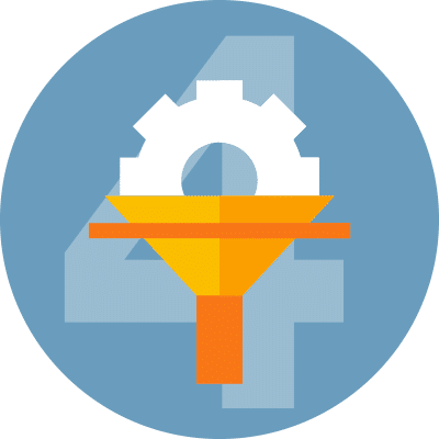 icon representing top insight custom funnels
