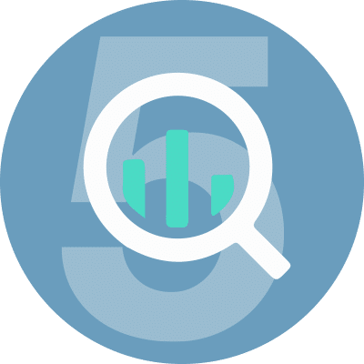 icon representing top insight advance analysis with big query