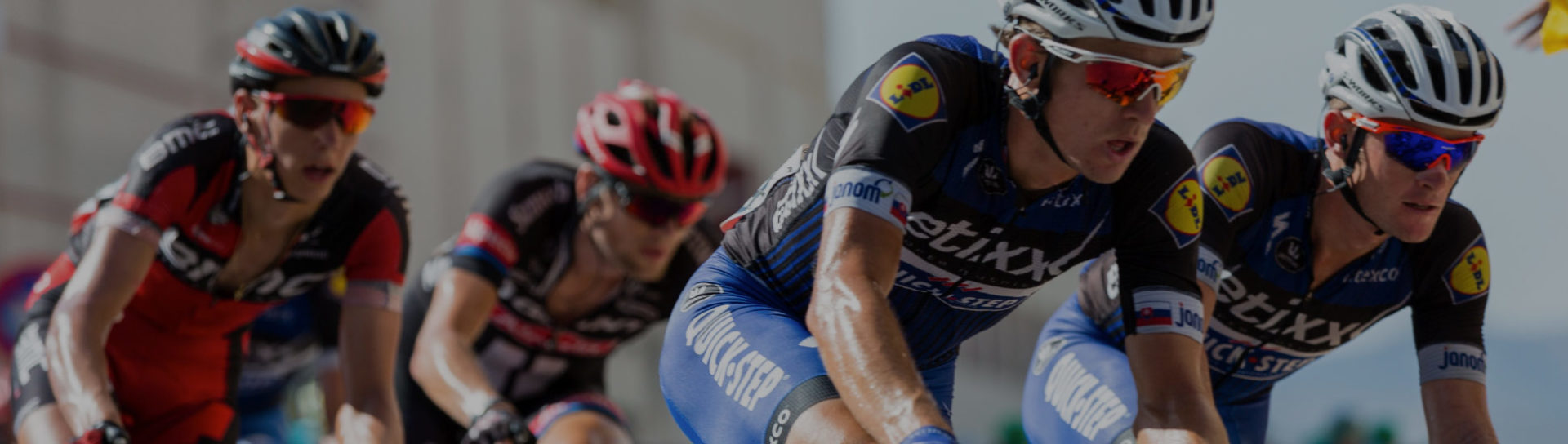 cyclist racing representing competitive advantage
