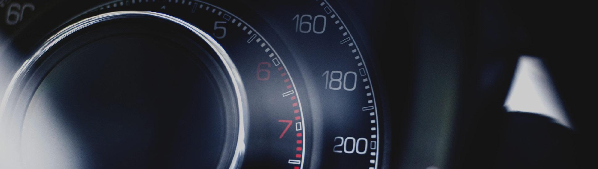 speedometer representing optimization marketing