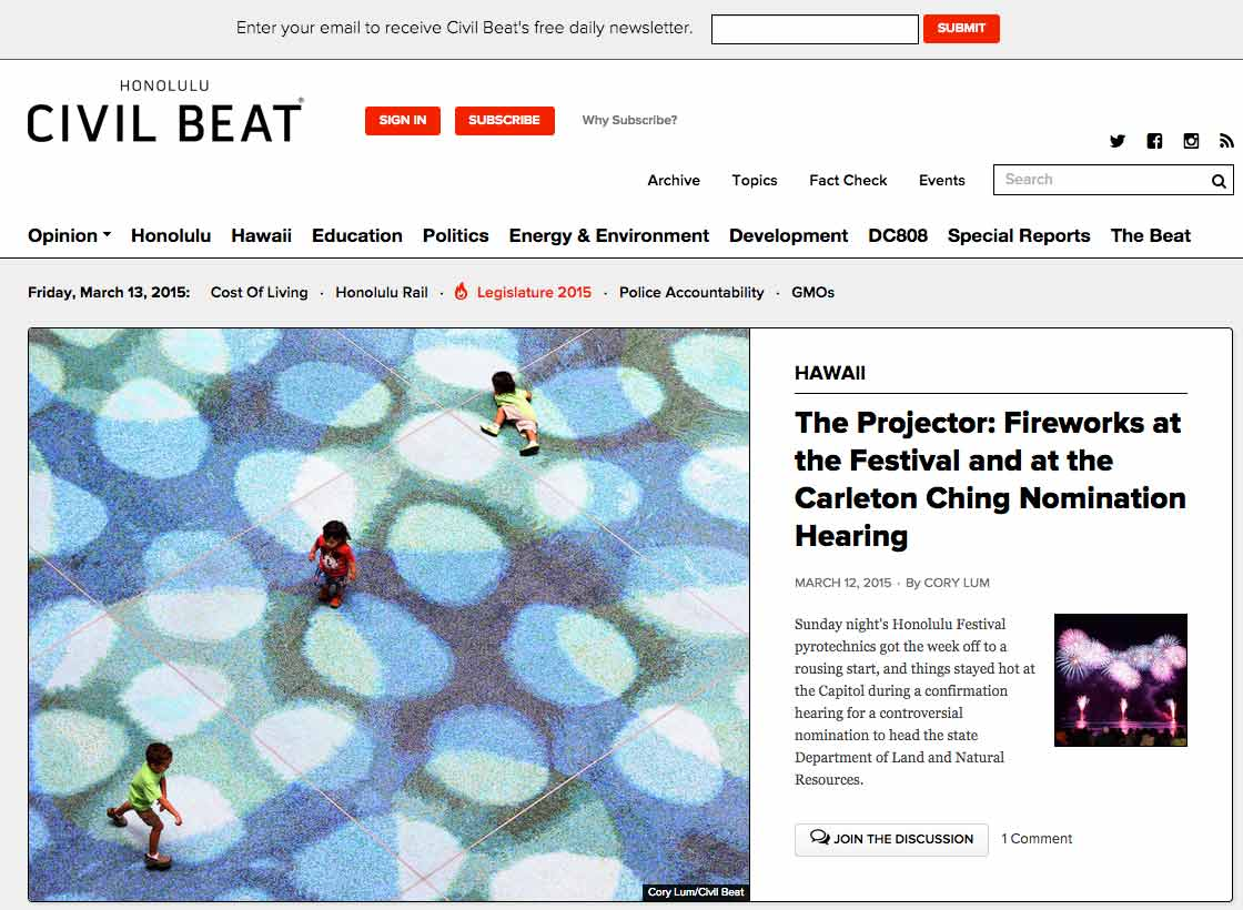 Civil Beat Home Page