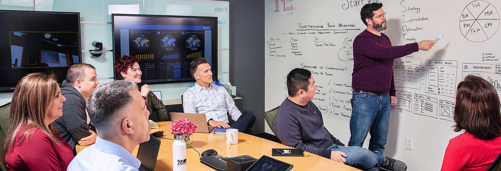 business analytics brain storming meeting