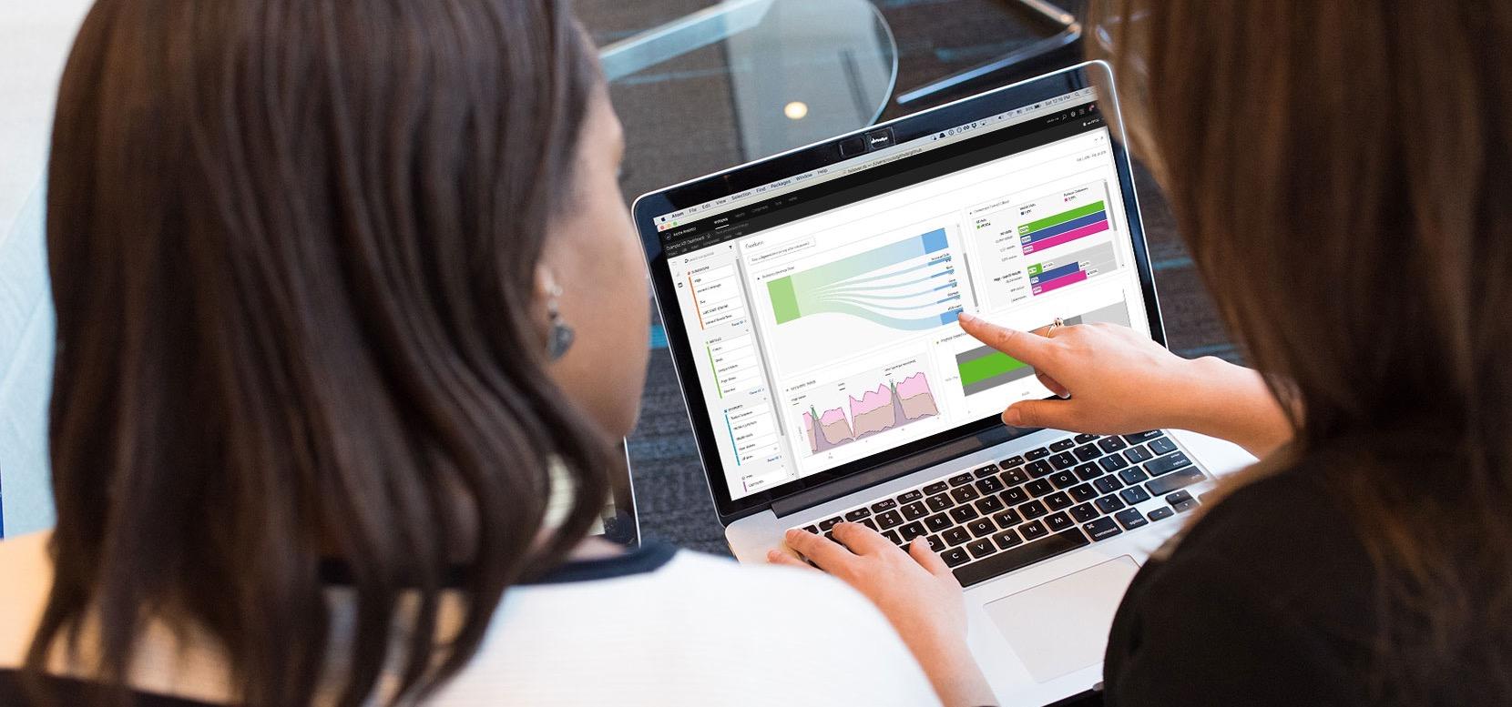 image of analytics tools on laptop