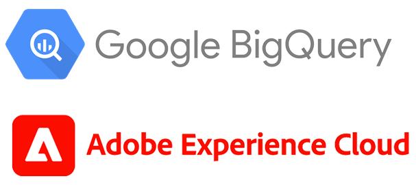 google big query logo and adobe experience cloud logo