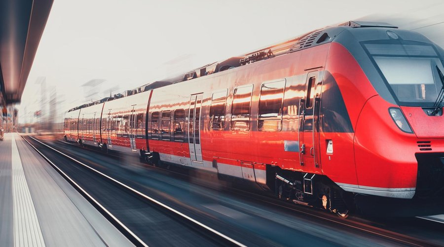 passenger train zooming by
