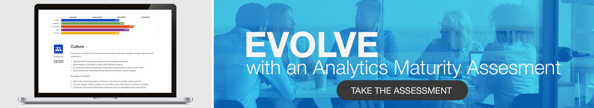 evolve with an analytics maturity assessment - take the assessment