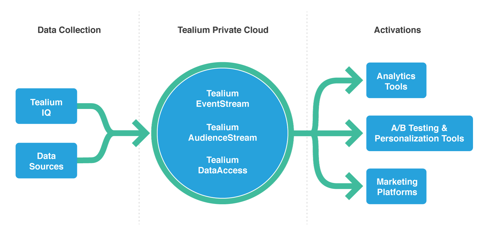 tealium's private cloud data collection and activation processes
