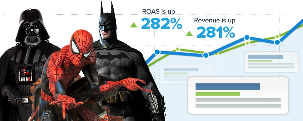 Sideshow Collectibles: Paid Search Optimizations Increase Revenue