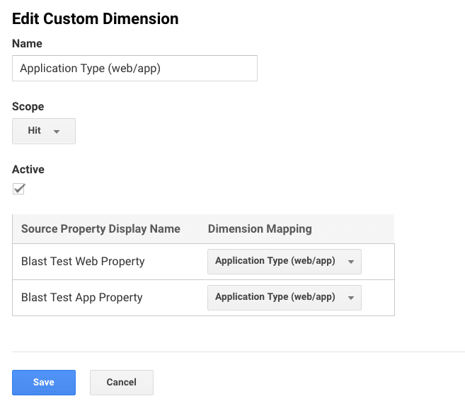 edit custom dimension on google analytics 360 roll-up property features