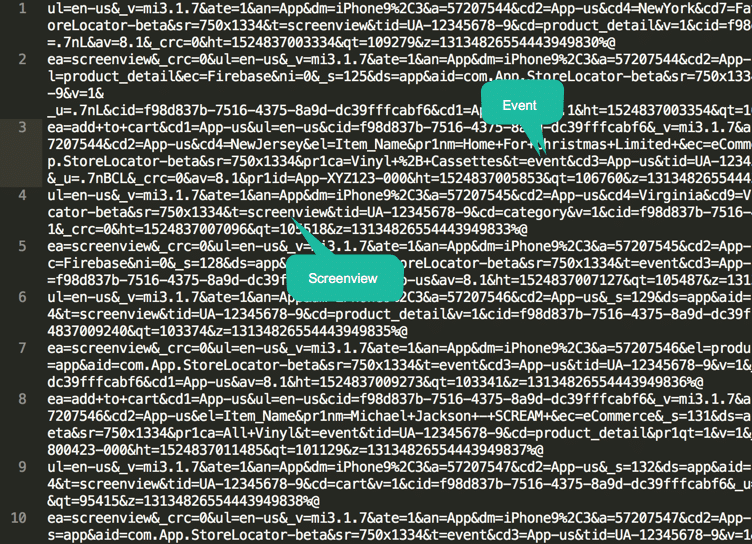 google analytics batch decoder for gtm firebase implementation debug