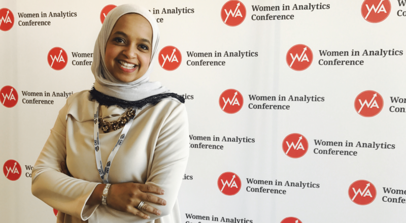 mai alowaish attending 2018 women in analytics conference