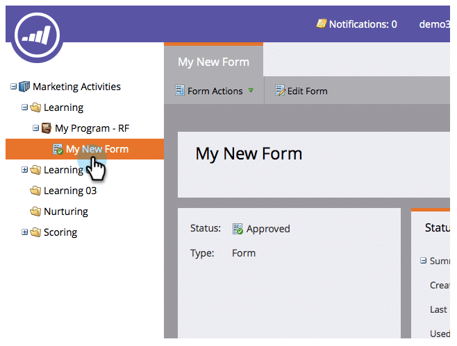 Marketo Forms Screen Shot