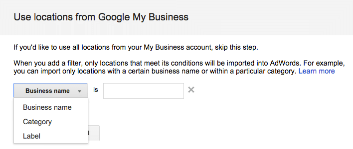 Google My Business Locations