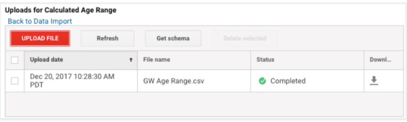 screenshot of uploaded file