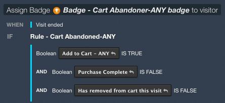 screenshot of tealium audiencestream badge assign screen