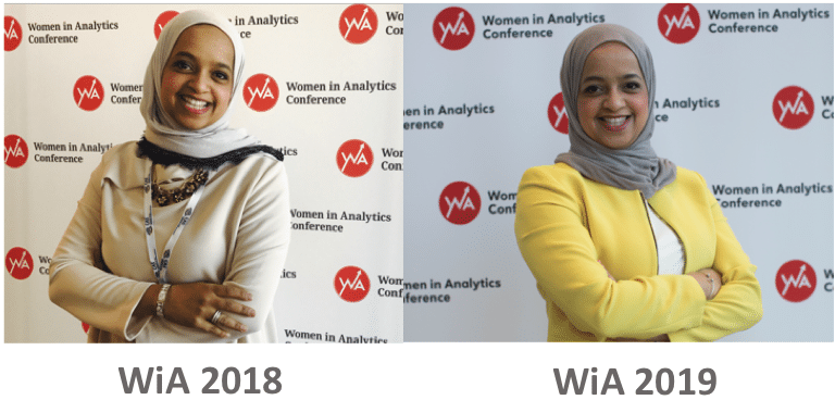 image representing mai alowaish at the women in analytics 2018 conference and the women in analytics 2019 conference
