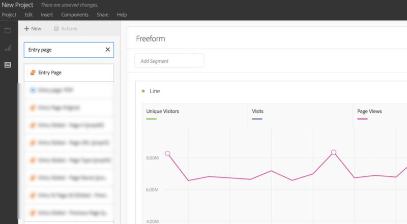screenshot showing step 1 of adobe analytics analysis workspace segments