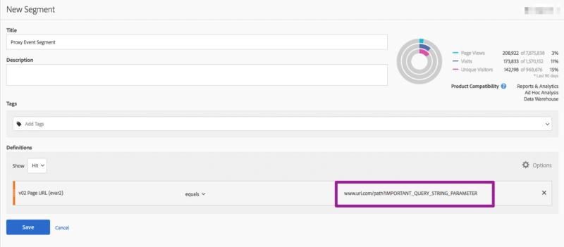 screenshot of adobe analytics segment builder