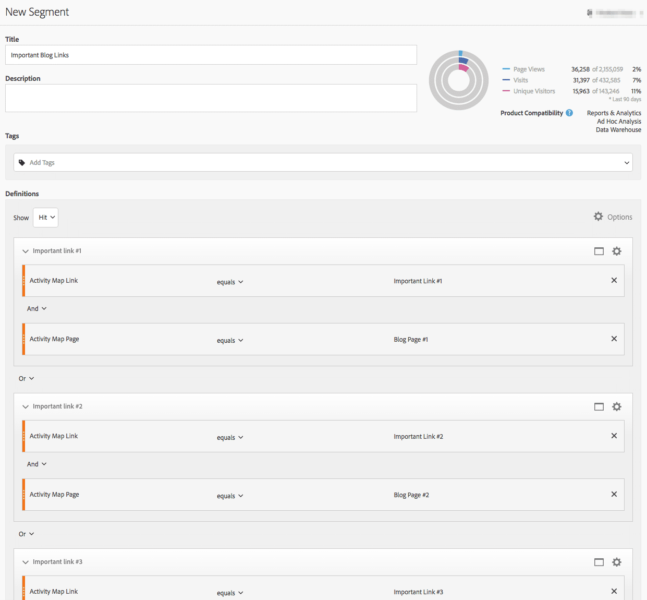 screenshot of adobe analytics calculated metrics builder