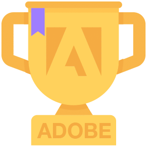 graphic of adobe analytics winner trophy