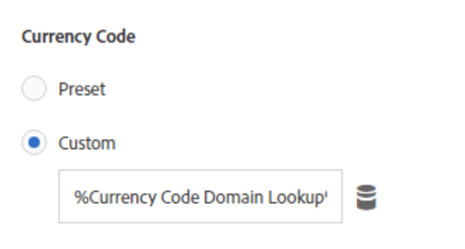 screenshot showing where to set the currency code in adobe analytics