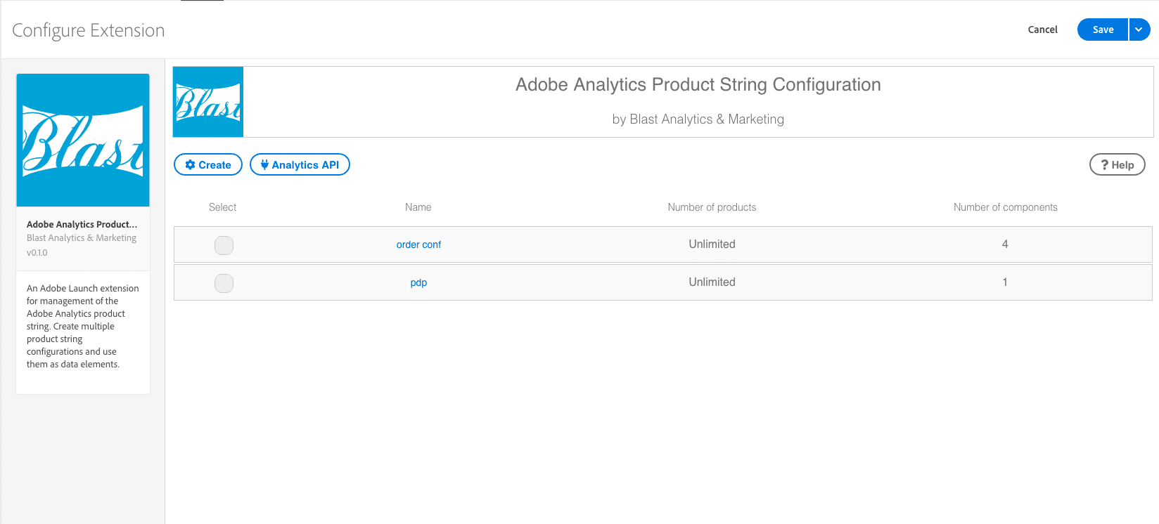 adobe analytics product string configuration
