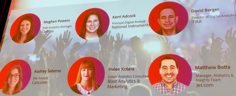 image of slide showing adobe summit rockstar contestants