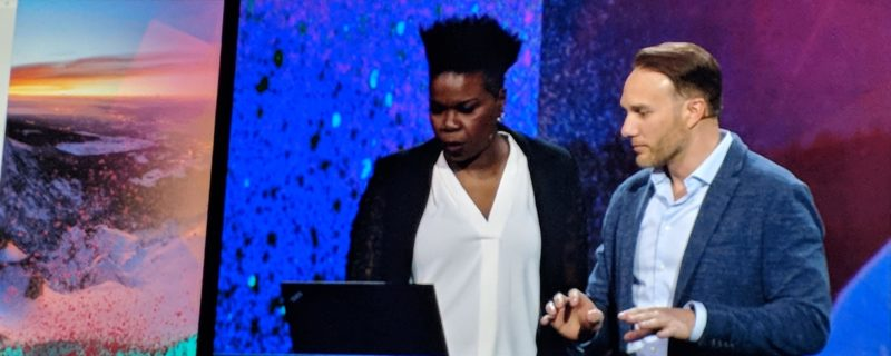 image of presenters at 2018 adobe summit