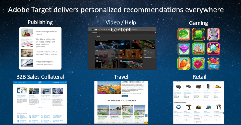 image of adobe target personalized recommendations at adobe summit