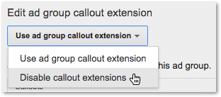 Callout Extensions Disable Extensions