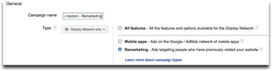 Google Adwords Remarketing Lists - Name Campaign Example
