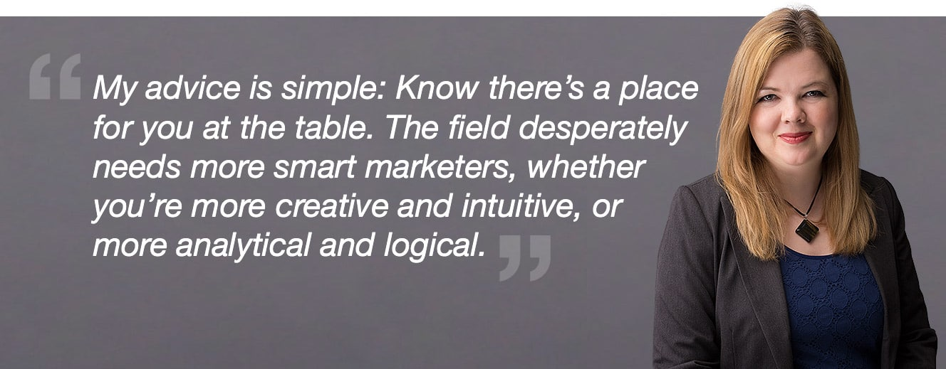 image of blast's amy hebdon quote regarding women in analytics
