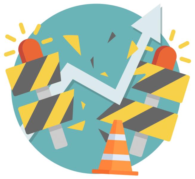 icon representing break through barriers