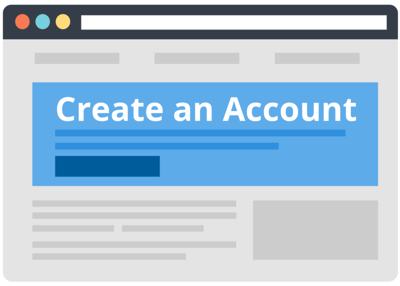 icon representing create account page