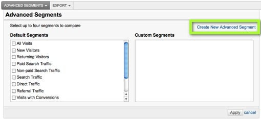 Create Advanced Segment Link in Google Analytics