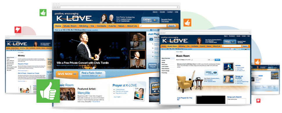 K-LOVE: Improved User Experience through Website Strategy, Usability Testing and Design Collaboration.