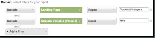GA v5 Custom Report Filters