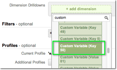 Custom Reports 50 Custom Variables