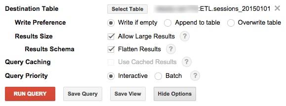 Export Google Analytics Bigquery Clickstream Data