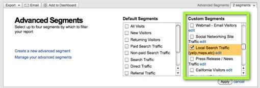 Custom Advanced Segments to Track Marketing Channels