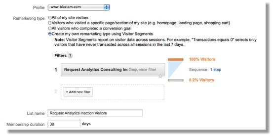 Google Analytics Remarketing Lists - Visitor Sequence pt 2 Example