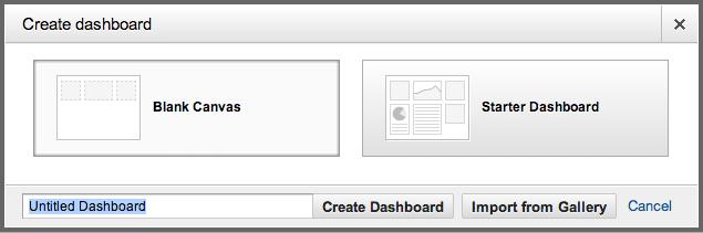 Google Analytics Solution Gallery - Import Dashboard