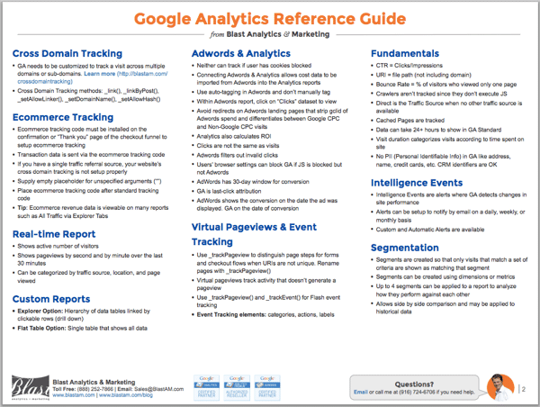 Download the Google Analytics Reference Guide
