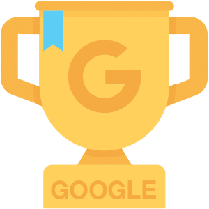 image of google analytics winner trophy