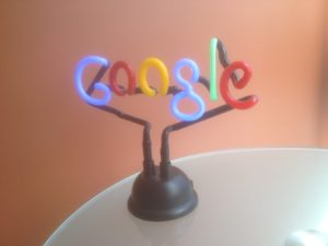 Our prized Google neon lamp