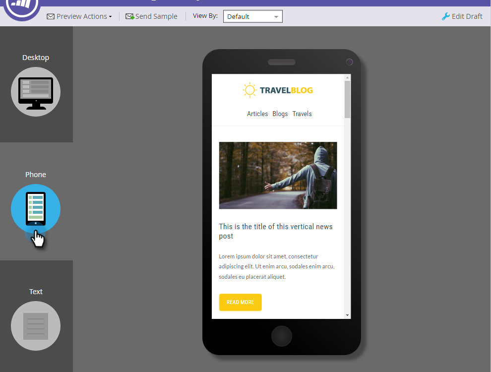 image of marketo's mobile email