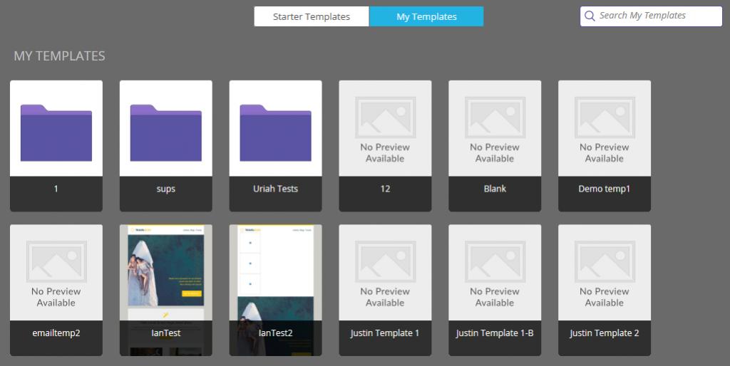 marketo email templates screenshot